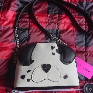 Betsey Johnson Dalmatian Puppy Crossbody Bag